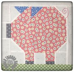 Farm Girl Vintage Penny Pig Block by Thistle Thicket Studio