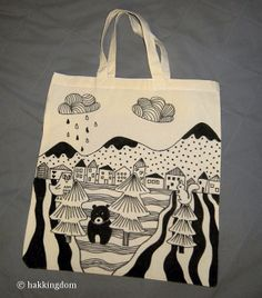 hakkingdom - little things that inspire me: Pin It and Do It #12: DIY illustrated shopping bag