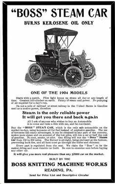 1904 Boss Steam Automobile Advertisement