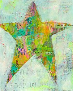 starfish print by jennifer mercede