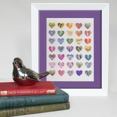 Love is in the air ~ Vintage Postage Stamp Art by Max & Me Designs  www.maxandmedesigns.com