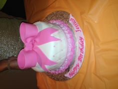 Beautiful girly birthday cake!