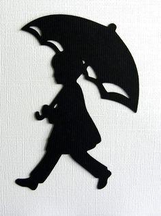 silhouette rain umbrella - Recherche Google
