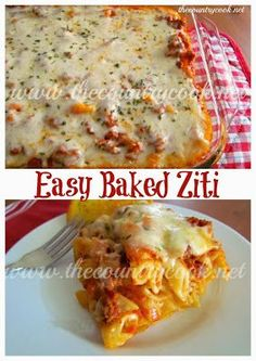 Easy Baked Ziti {your family will LOVE this!! and you will love how easy it is to make!!}