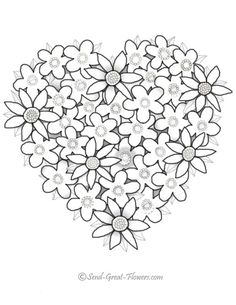 valentine coloring pages – Bing Images Make your world more colorful with free printable coloring pages from italks. Our free coloring pages for adults and kids. Heart Coloring Pages, Flower Coloring Pages, Mandala Coloring, Coloring For Kids, Coloring Pages For Kids, Coloring Books, Printable Valentines Coloring Pages, Printable Coloring Pages, Valentines Flowers
