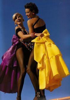 Chanel S/S ,1991 Photographer:Karl Lagerferd Model:Linda Evangelista & Christy Turlington