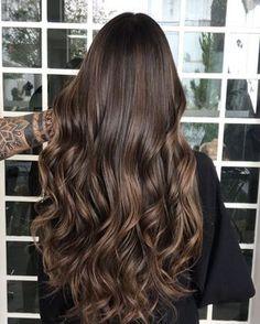 hair morenas 686 curtidas, 62 comentrios - Heber F - test Brown Hair Balayage, Brown Hair With Highlights, Brown Hair Colors, Hair Color For Tan Skin, Light Brown Hair, Light Hair, Hair Shades, Brunette Hair, Green Hair