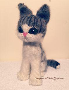 Cat Kitten Meow!puppy amigurumi❤️ Rif.schema:https://www.etsy.com/listing/120814932/grey-cat-pdf-crochet-toy-pattern?utm_source=Pinterest&utm_medium=PageTools&utm_campaign=Share
