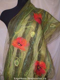 Nuno Felting, Needle Felting, Wool Scarf, Felted Scarf, Scarf Tutorial, Felting Tutorials, Creation Couture, Felt Art, Felt Flowers