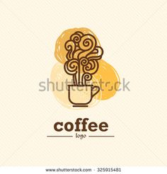 Vector flat coffee logo sample. Beautiful coffee brand template. Good for coffee and tea store, shop, also cafe and restaurant. - stock vector