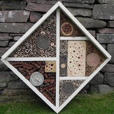 A bee house for the style conscious bee world.
