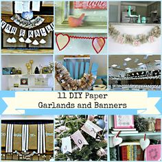 11 DIY Paper Garlands and Banners
