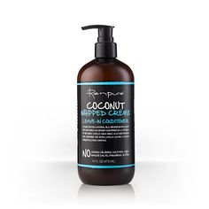 Renpure - Whip your hair into shape with our lightweight, moisturizing Coconut Whipped Crème Leave-in Conditioner. This is a great solution for dry, frizzy hair. Coconut water has the ability to absorb quickly into each hair fiber, allowing it to deliver oils and vitamins that condition and heal the innermost area of the hair cuticle. Your hair will look smoother, feel softer, and be healthier.