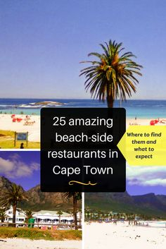 25 of the best beach-side restaurants in Cape Town. Hot summer days in Cape Town are best rounded off by watching a sunset over a stunning beach, with a cocktail in hand. Luckily there are plenty of beach-side restaurants in Cape Town that you can do just that