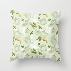 Whimsical Birds Throw Pillow  - $20.00