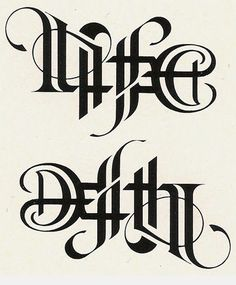 life and death tattoo sleeve life and death tattoo life and death life and death art life and death drawings life and death brigade life and death aesthetic life and death tattoo sleeve life and death tattoo women Tattoo Fonts Alphabet, Tattoo Lettering Fonts, Lettering Styles, Calligraphy Alphabet, Typography Letters, Hand Lettering, Tattoo Symbols, Neue Tattoos, Bild Tattoos