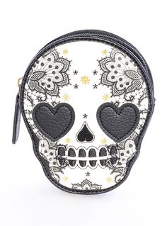 Love Sick Sugar Skull Coin Purse. I want this so bad!!! My coin purse broke and this is a great new one!!!
