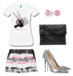 Untitled #357 by statementbydnl on Polyvore featuring Milly, Jimmy Choo, Bao Bao by Issey Miyake and Bling Jewelry