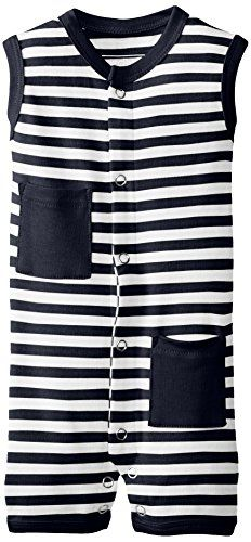 Lovedbaby UnisexBaby Organic Shortall NavyWhite 36 Months -- Click image for more details.Note:It is affiliate link to Amazon.