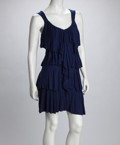 Take a look at this Navy Ruffle Dress by LA Class on #zulily today!