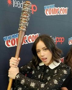 Great photo of #ChloeBennet and #Lucille!  #NYCC #NewYorkComicCon #NYCC2016 #AgentsofSHIELD #TheWalkingDead #TWD #Negan