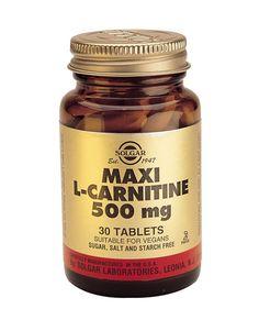Solgar Vitamins L-Carnitine 500 mg 60 tabletten - Solgar L-Carnitine 500 mg is een vrije vorm aminozuur dat het transport van (lange) vetzuurketens in de mitochondria verzorgt. Lange keten vetzuren dienen als brandstof voor spiercellen.