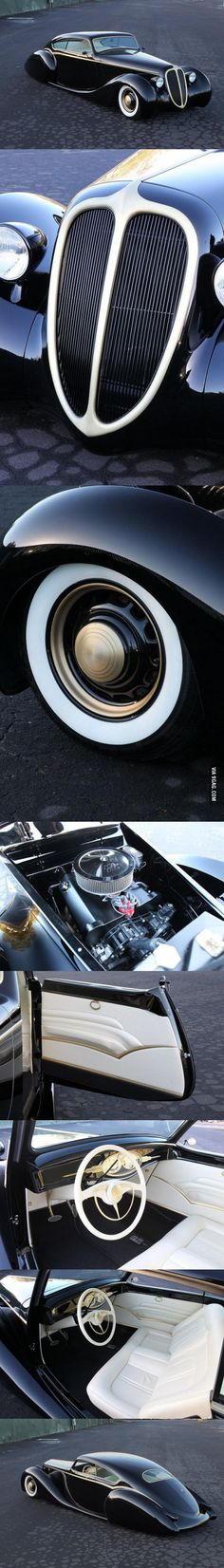 "Metallica's James Hetfield's custom built car, the ""Black Pearl"""