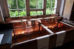 Saltram House Devon Dorsetcamera copper sinks   via Howard Slatkin!  @TheDailyBasics loves!