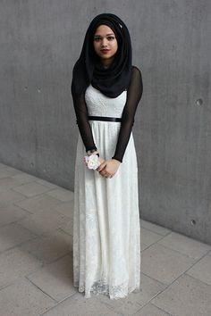 Fashionable And Modern Hijab Look - HijabiWorld Muslim Women Fashion, Arab Fashion, Islamic Fashion, Modest Fashion, Street Fashion, Hijab Evening Dress, Evening Dresses, Turban, Modern Hijab