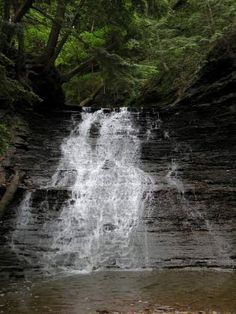 Buttermilk Falls is in the Cuyahoga Valley National Park. This is one of the newest national parks, located just south of Cleveland.