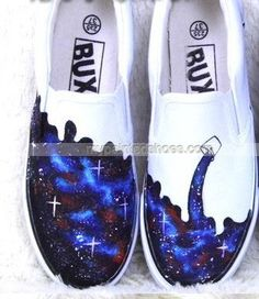 #galaxy slip on shoes custom galaxy shoes