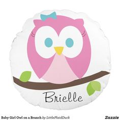 Baby Girl Owl on a Branch