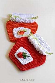 Crochet's jam jar - jam jars crochet - besenseless.blogspot.it