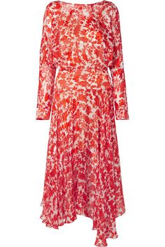 Preen by Thornton Bregazzi | Norma printed devoré silk-blend chiffon midi dress | NET-A-PORTER.COM