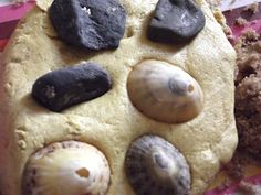 Creative Playhouse: Sand Playdough. Mix sand into playdough (or brown sugar if you don't have sand) and play with shells. Great sensory play, beach themed idea.