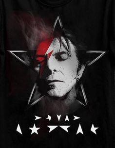 David Bowie by ? The stars on the bottom would make a great tattoo David Bowie Tattoo, David Bowie Art, David Bowie Labyrinth, David Bowie Pictures, The Thin White Duke, Major Tom, King David, Ziggy Stardust, Black Star