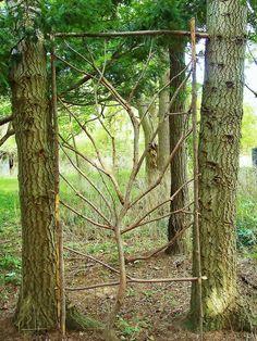 Great trellis for plants or garden screen in between trees Garden Trellis, Garden Gates, Cedar Trellis, Wall Trellis, Trellis Panels, Trellis Fence, Garden Arbor, Fence Gate, Garden Crafts
