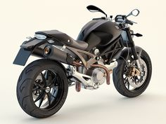 Ducati Monster by Jason Armstrong, via Behance