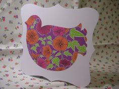 Tropical Bird of Paradise blank greetings card with bright bold floral colours £1.00