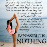 Impossible is nothing.  #exercise #fitspiration #motivation
