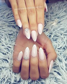 French Nails Wedding Style Design Glamour