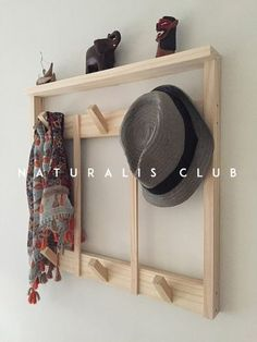 Porch Storage, Hanging Storage, Hallway Storage, Wooden Hangers, Room Planning, Wood Creations, Furniture For Small Spaces, Home Improvement Projects, Wood Furniture