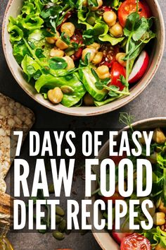 The Raw Food Diet: Meal Plan for Beginners eating breakfast eating dinner eating for beginners eating for weight loss eating grocery list eating on a budget eating plan eating recipes eating snacks Easy Meal Plans, Vegan Meal Plans, Diet Meal Plans, Meal Prep, Raw Food Diet Plan, Clean Eating Diet Plan, Food Plan, Raw Food Detox, Vegan Detox