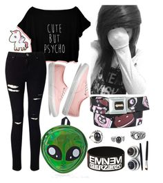 """""""Scene Hair #44"""" by taylor-kennedy-i ❤ liked on Polyvore featuring Miss Selfridge, Vans and Comeco"""