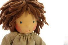 Beautiful boy Waldorf doll hair