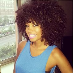 Love this curly afro