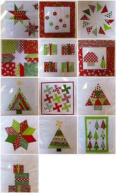 Christmas quilt blocks by kldemare, via Flickr