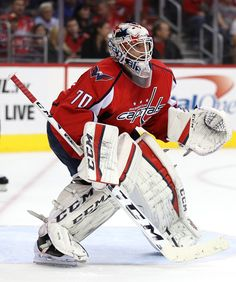 Goalie Braden Holtby #70 of the Washington Capitals tends the net against New York Islanders during the first period at Verizon Center on October 15, 2016 in Washington, DC. (Oct. 14, 2016 - Source: Patrick Smith/Getty Images North America)