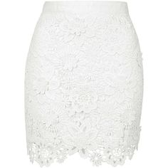 White Floral Crochet Bodycon Mini Skirt ($44) ❤ liked on Polyvore featuring skirts, mini skirts, bottoms, saias, body con skirt, floral skirt, short skirts, floral mini skirt et floral bodycon skirt