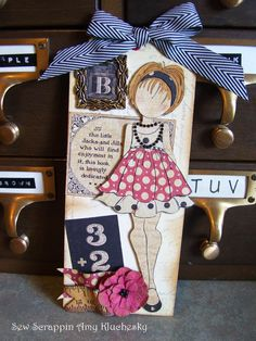 Graphic 45 ABC Primer Julie Nutting Prima Doll.  By Amy Kluchesky.